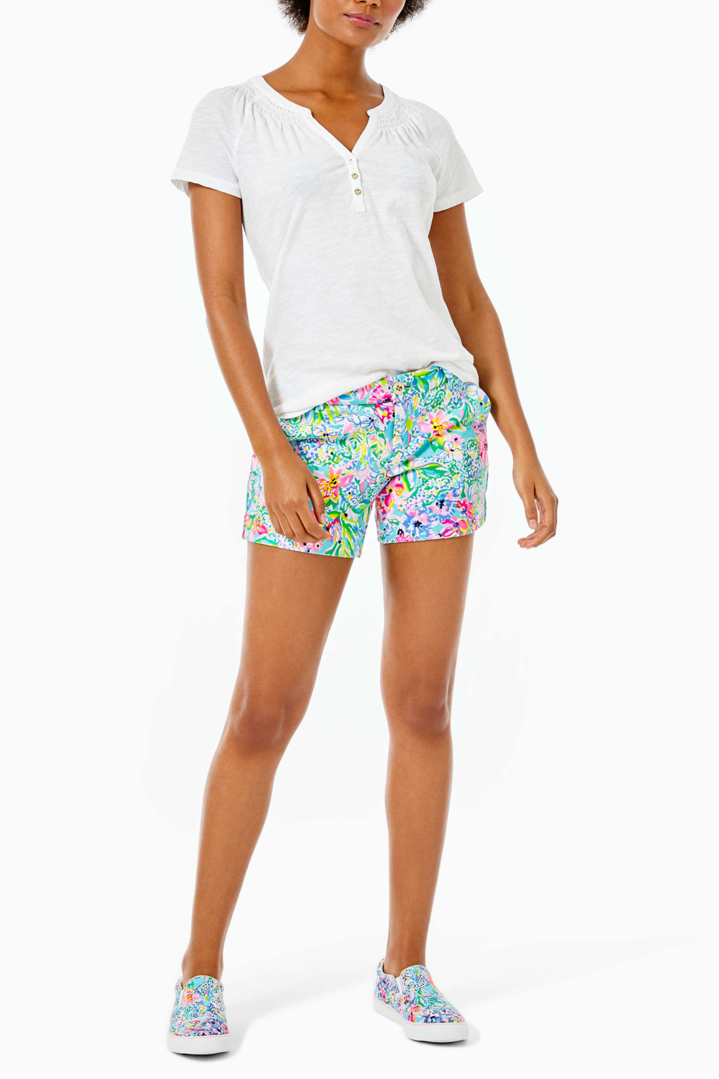 Lilly Pulitzer  Short Sleeve Essie Top - Side Cropped Image