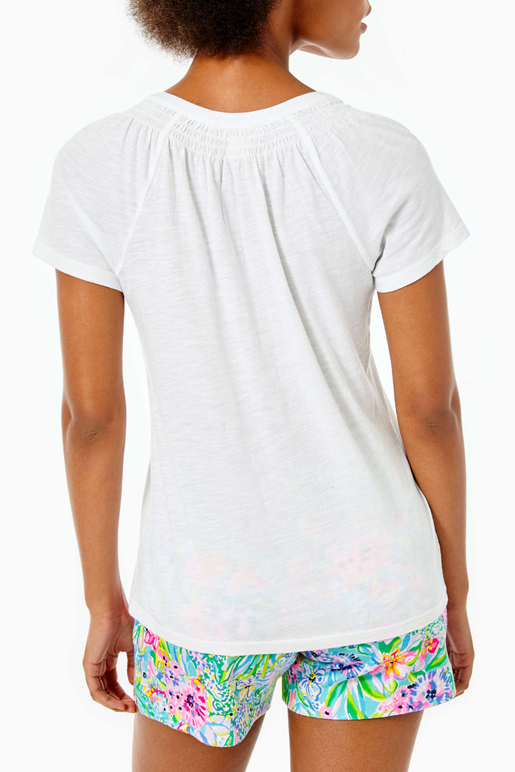 Lilly Pulitzer  Short Sleeve Essie Top - Front Full Image