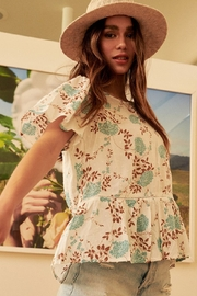 Promesa  Short Sleeve Floral Blouse - Front cropped