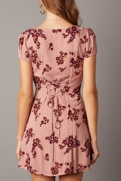 Cotton Candy Short-Sleeve Floral Dress - Alternate List Image