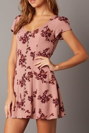 Cotton Candy Short-Sleeve Floral Dress - Front cropped