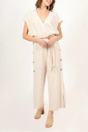 Very J Short sleeve jumpsuit - Front cropped