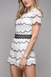 Do & Be Short-Sleeve Lace Romper - Front full body