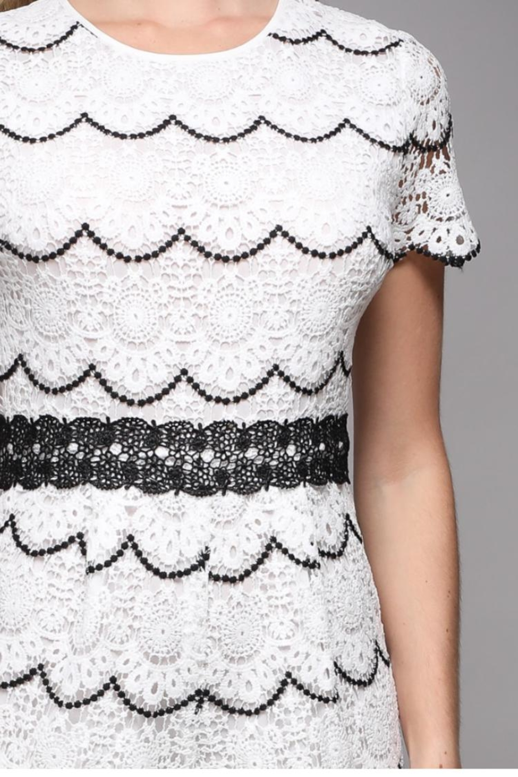 Do & Be Short-Sleeve Lace Romper - Back Cropped Image