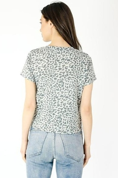 Six Fifty Short Sleeve Leopard Front Tie Top - Alternate List Image