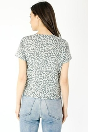 Six Fifty Short Sleeve Leopard Front Tie Top - Side cropped