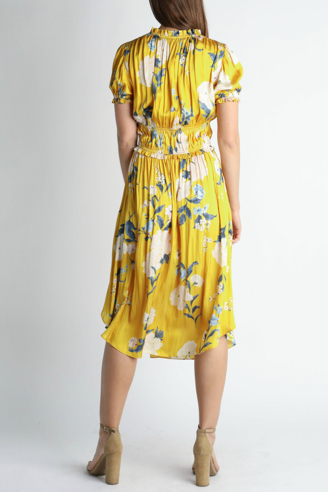 Current Air Short sleeve midi dress - Front Full Image