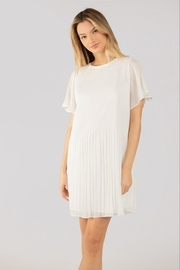 Naked Zebra  Short Sleeve Pleated Dress - Product Mini Image