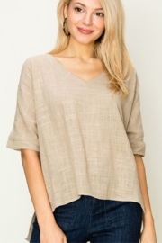 HYFVE Short Sleeve Poncho Top - Product Mini Image