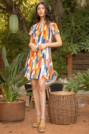 Thml Short Sleeve Print Dress - Front cropped