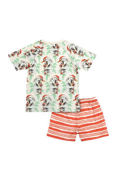 Paper Wings Short Sleeve Raglan Pajama Set - Alternate List Image