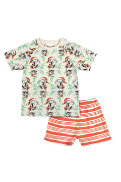 Paper Wings Short Sleeve Raglan Pajama Set - Product List Image