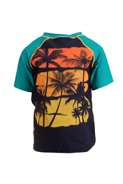 Appaman Short Sleeve Rash Guard - Teal - Product Mini Image