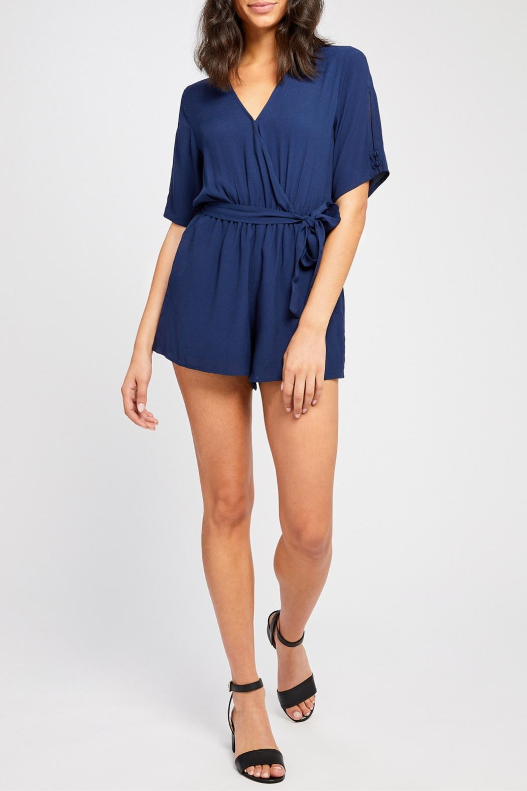 Gentle Fawn Short Sleeve Romper - Front Cropped Image