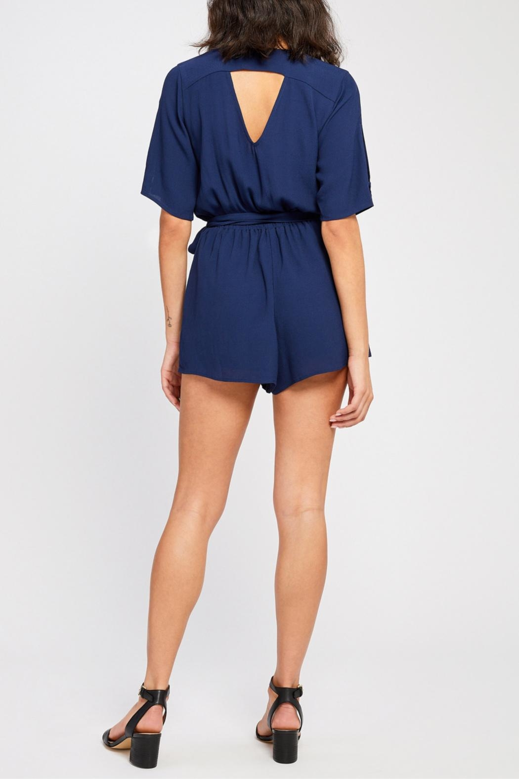 Gentle Fawn Short Sleeve Romper - Back Cropped Image