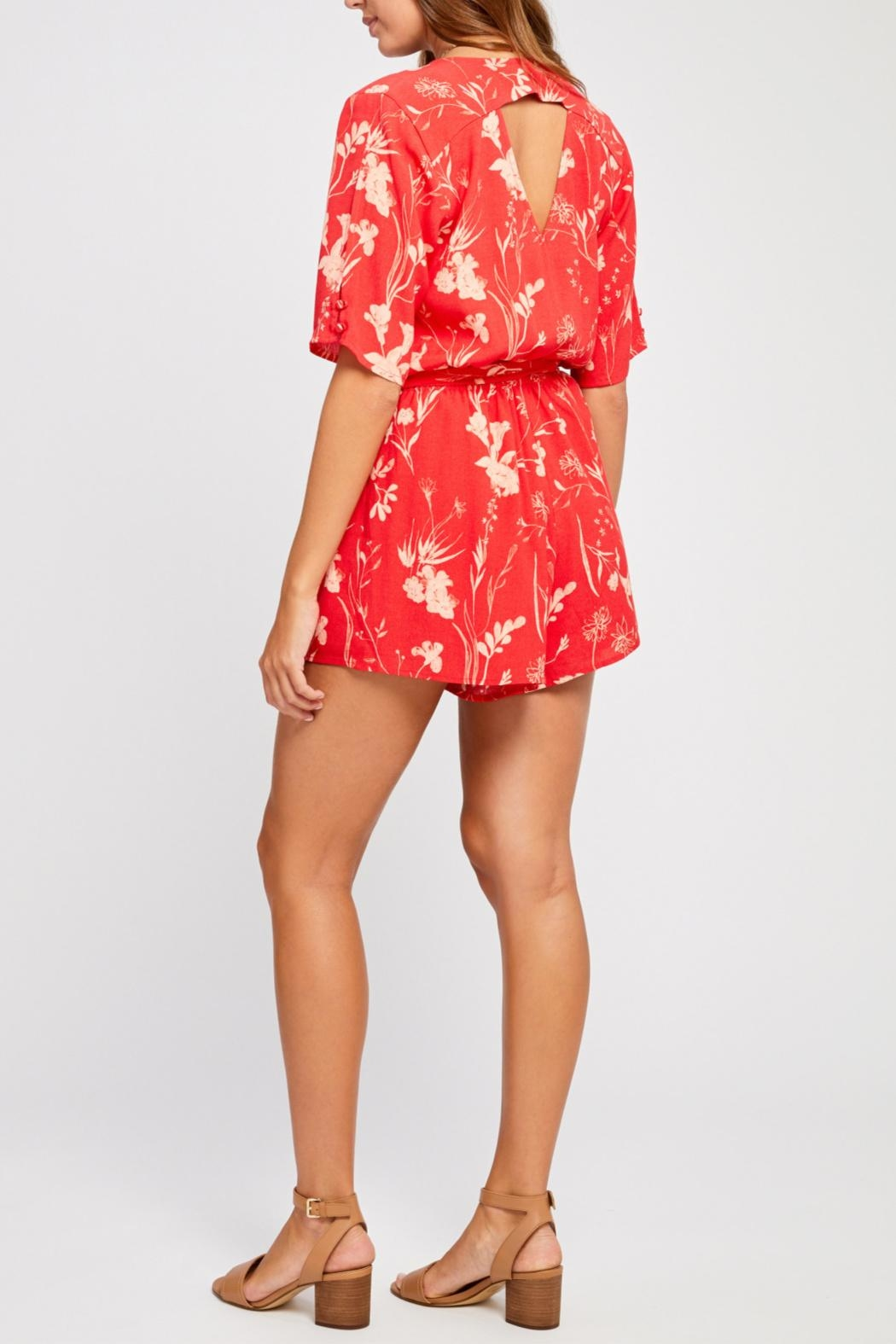 Gentle Fawn Short Sleeve Romper - Side Cropped Image