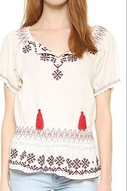 Tularosa  Short Sleeve Smocked Embroidered Blouse - Product Mini Image