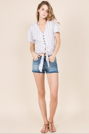 Miss Love Short-Sleeve Stripe Top - Front cropped