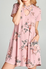 Oddi Short-Sleeve Swing Dress - Product Mini Image