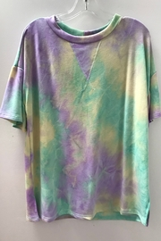 First Love SHORT SLEEVE TIE DYE TOP - Product Mini Image