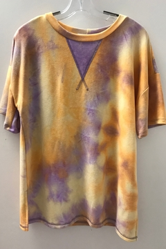 First Love SHORT SLEEVE TIE DYE TOP - Product List Image