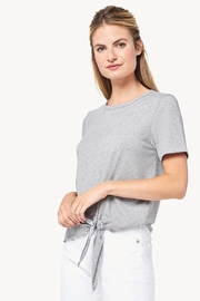 Lilla P Short Sleeve Tie Front Tee - Product Mini Image