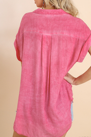 Umgee  Short Sleeve Top - Side cropped