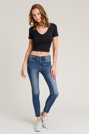 Wasabi + Mint Double Layer Crop Top - Front cropped