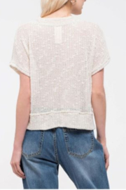 blu Pepper  Short Sleeve Top with Button Front - Back cropped