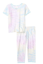 Esme Short Sleeve Shimmer Tye Dye Pj Set - Product Mini Image