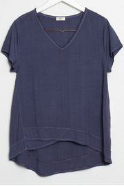 Dylan Short sleeve V-neck blouse - Product Mini Image