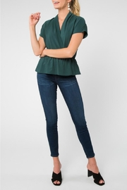 Everly Short-Sleeve Waist-Top, Hunter - Product Mini Image