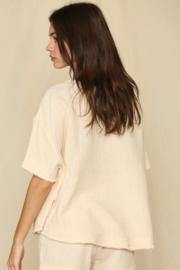 By Together  Short Sleeve Woven Gauze Top - Front full body