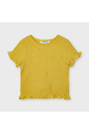 Mayoral Short Sleeved Smocked Tee - Front cropped