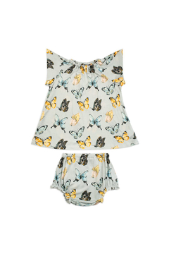 Shoptiques Product: Short Sleve  Peasand Dress With Bloomers - Butterfly