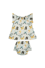 Milkbarn Short Sleve  Peasand Dress With Bloomers - Butterfly - Product Mini Image
