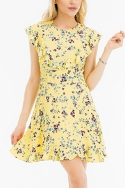 Olivaceous Short Spring Dress - Product Mini Image