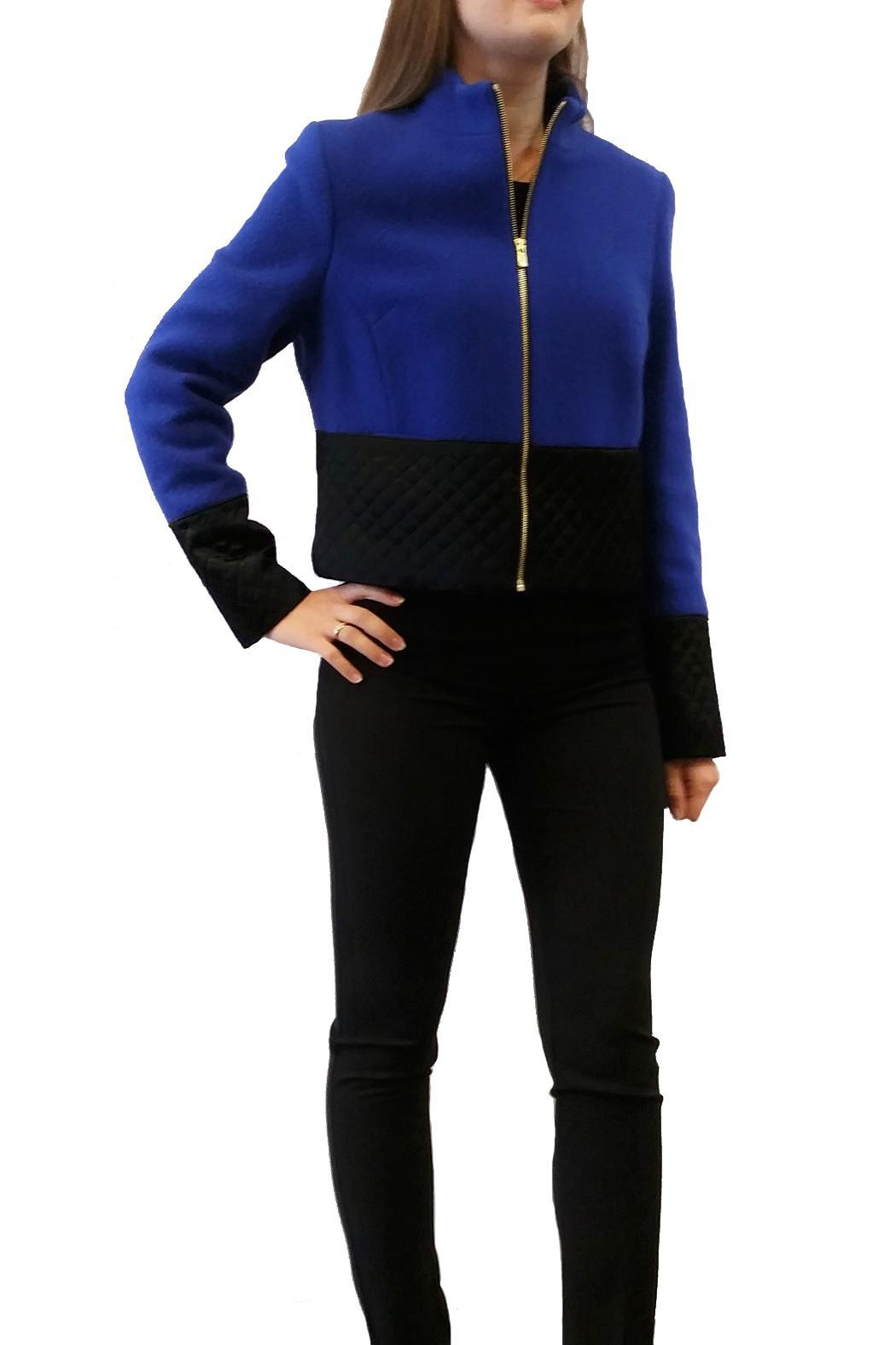 Short Two Tone Jacket - Front Cropped Image