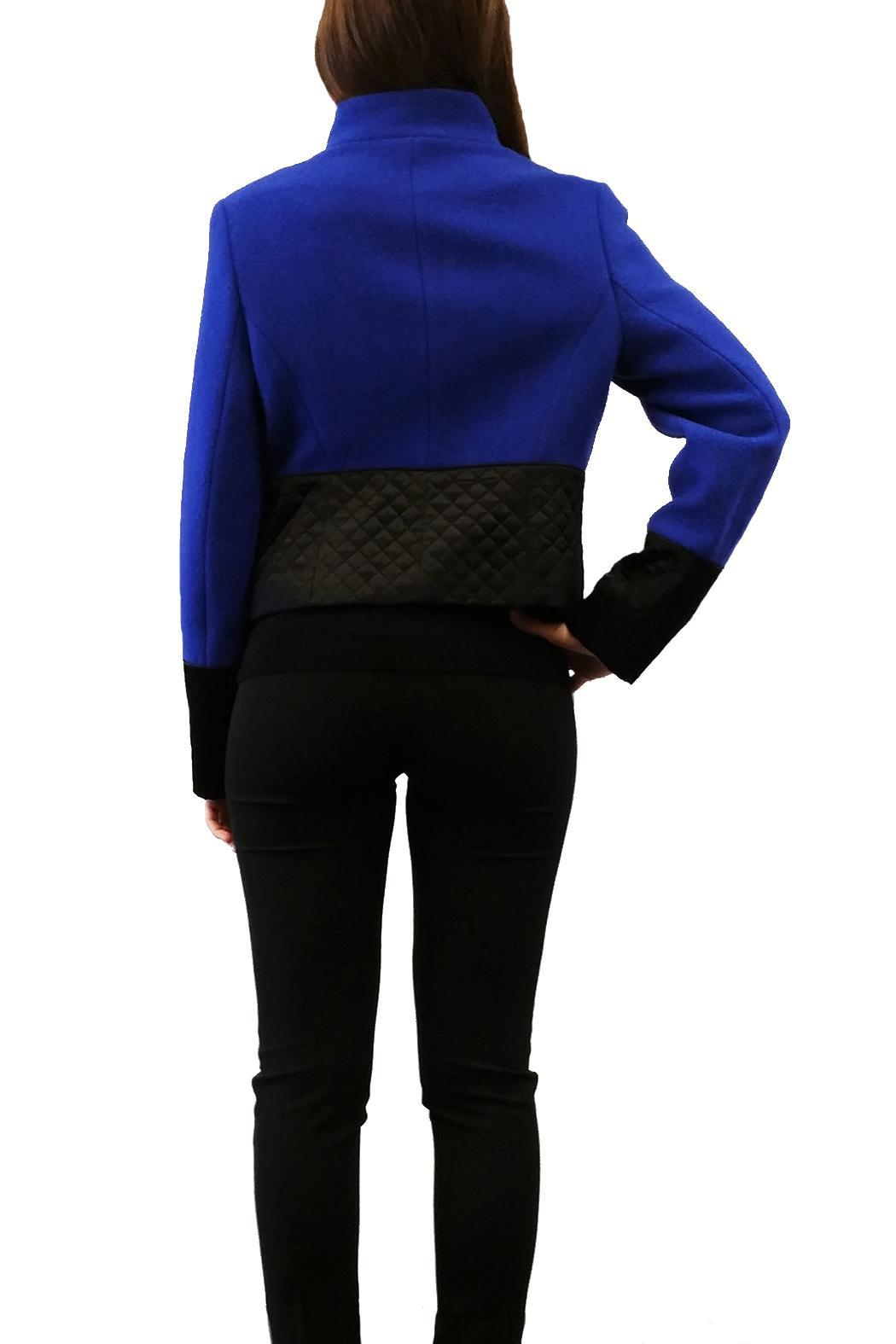 Short Two Tone Jacket - Side Cropped Image