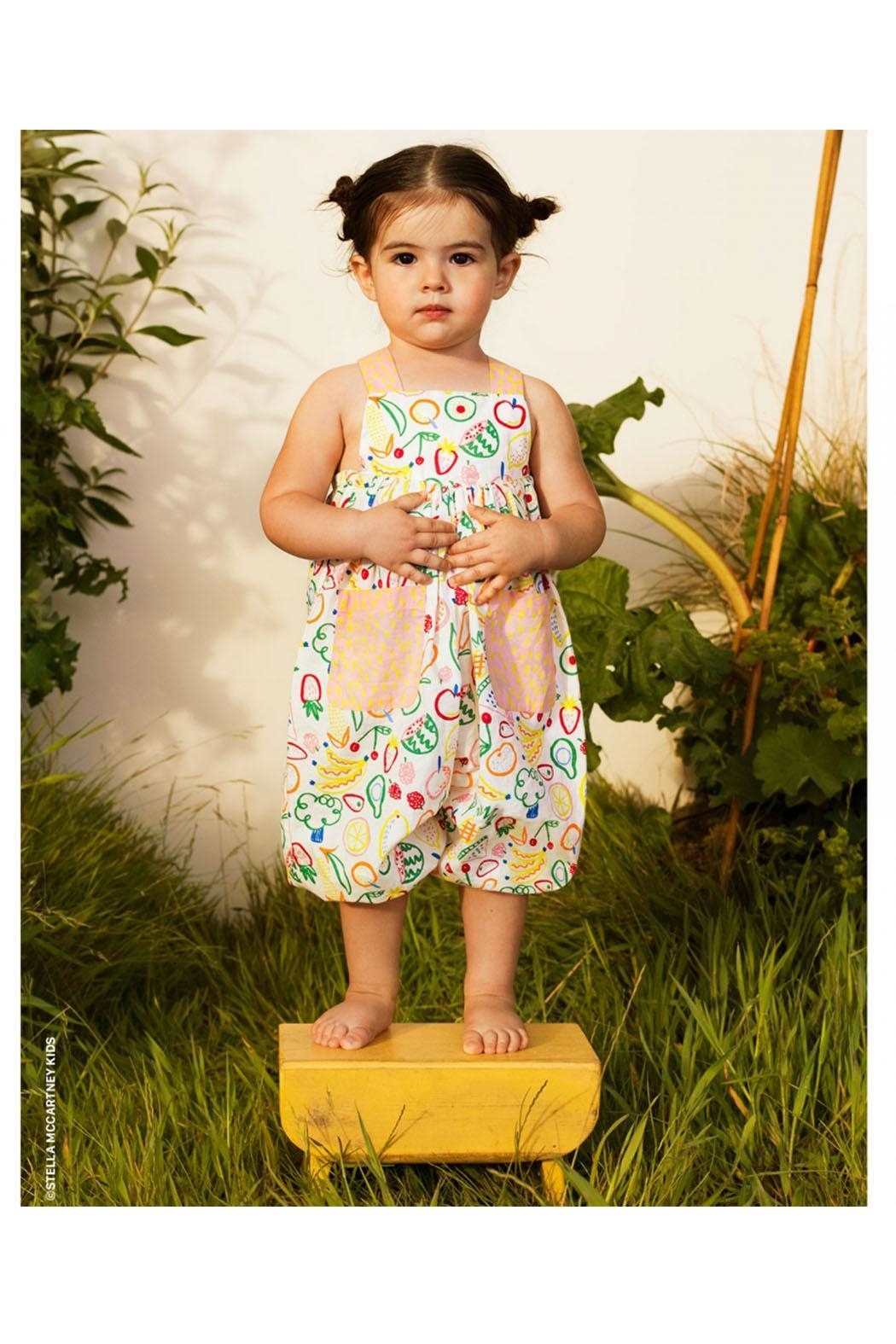 Stella McCartney Kids Shortall With Straps - Front Full Image
