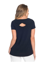 Last Tango Shortsleeve Backkeyhole Top - Front full body
