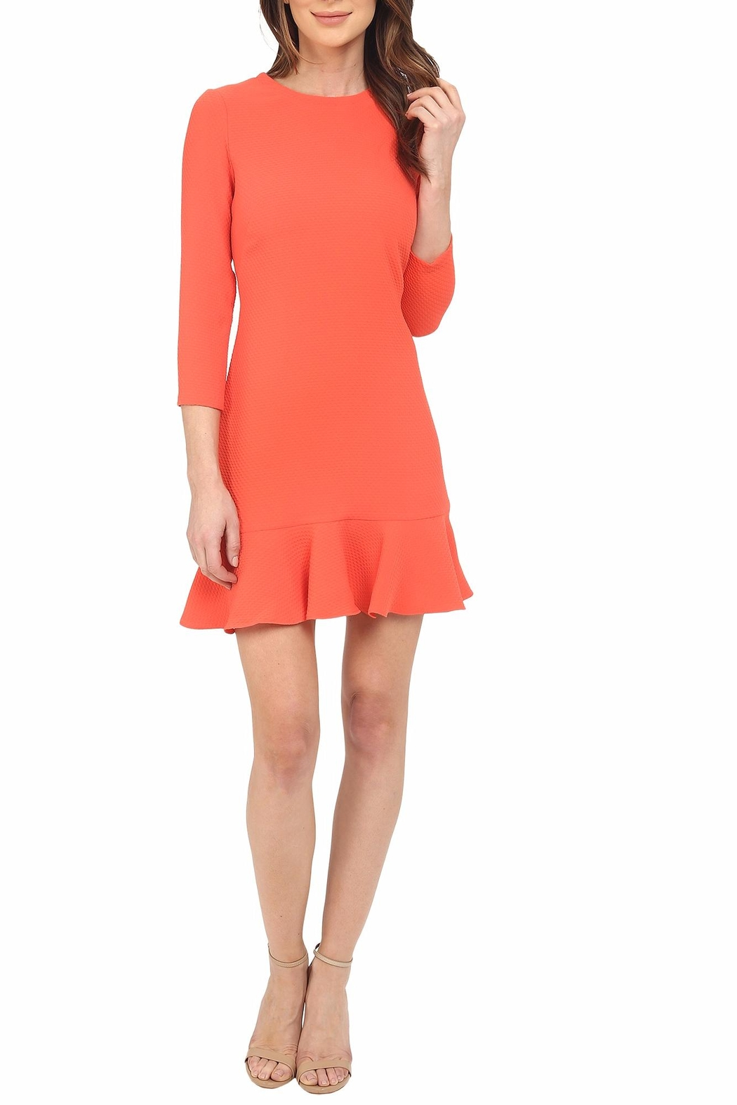 Shoshanna Tia Coral Dress - Front Cropped Image