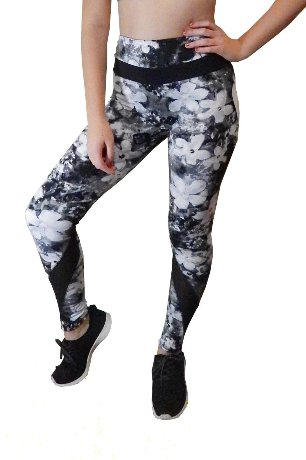 Shosho Active Athletic Leggings - Front Cropped Image