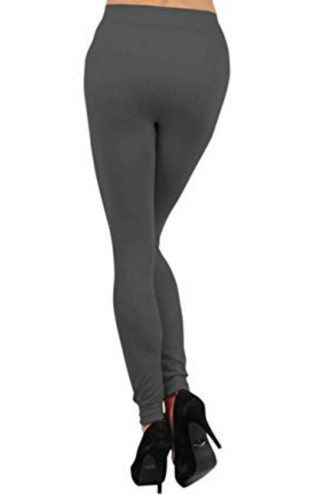 Shosho Charcoal Faux-Fur-Lined Leggings - Side Cropped Image