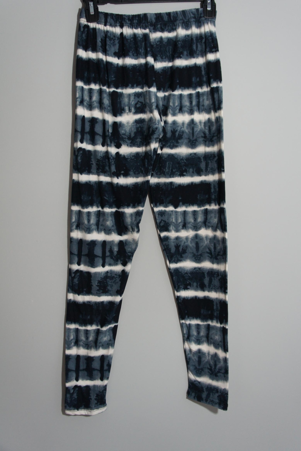 Shosho Dark-Blue Tie-Dye Leggings - Front Full Image