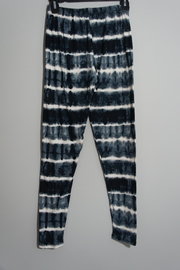 Shosho Dark-Blue Tie-Dye Leggings - Front full body