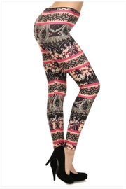 Shosho Paisley Print Leggings - Product Mini Image