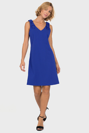 Joseph Ribkoff  Shoulder Bow Swing Dress, Royal - Product Mini Image