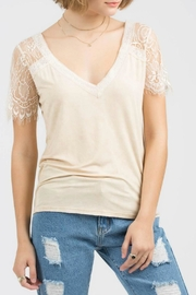 POL Shoulder Lace V-Neck - Product Mini Image