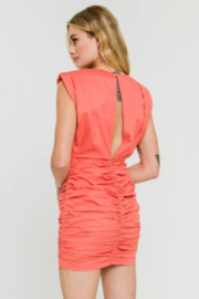 Endless Rose Shoulder Pad Ruched Dress - Other